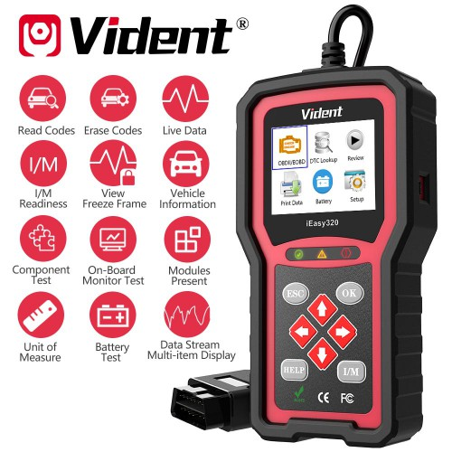 [UK Ship]VIDENT iEasy320 OBDII/EOBD+CAN Code Reader