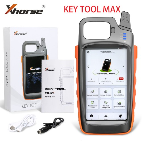 [UK/EU Ship]Xhorse VVDI Key Tool Max Remote Programmer and Chip Generator Get Free 96bit 48 Function and 1 Free Renew Cable