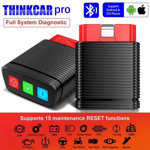 [UK Ship]ThinkCar Pro Thinkdiag Mini with 15 Reset Service Function Bluetooth OBD2 Scanner Get 5 Free Car Software