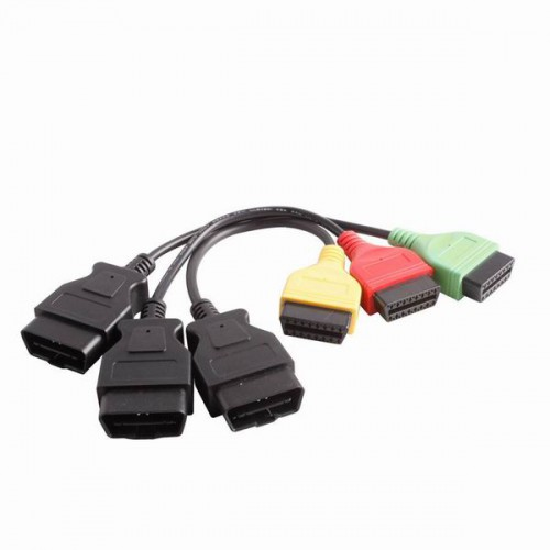 Fiat ecu scan adaptors fiat connect cable (3pieces/ set)