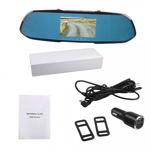 Car Detector Dvr R800 Rearview Mirror Camera Video Recorder HD 1080P Picture