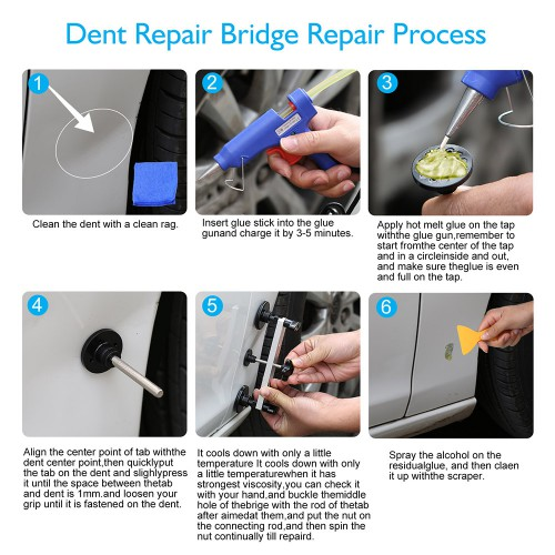 PDR Paintless Dent Repair Tools Dent Puller Bridge DIY Car Body Hail Removal Kit