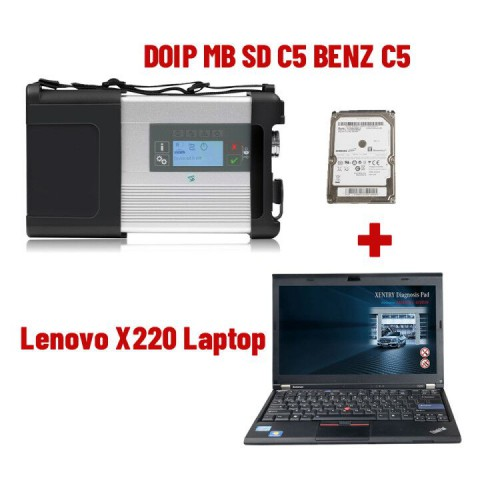 V2021.3 DOIP SD C5 WiFi Diagnostic Tool plus 4GB Lenovo X220 I5 Laptop Plus Free Activation Service Ready to Use