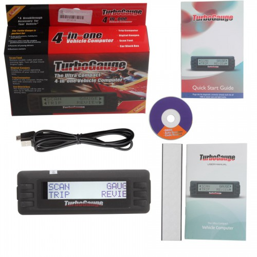TurboGauge IV Auto Computer Scan Tool Digital Gauge 4 in 1 Update Online