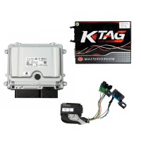 Ktag V7.020 EU Version Red PCB Plus Mercedes ME9.7 and Mercedes Benz ECU ME9.7/272-273/ Renew Cable