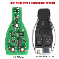 [7% Off]Original CGDI MB Be Key with Smart Key Shell 3 Button for Mercedes Benz Complete Key Package