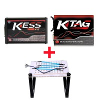[UK Ship]Kess V2 V5.017 Red PCB Plus KTAG K-TAG Red PCB V7.020 Plus LED BDM Frame