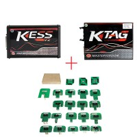 Red PCB EU Version! V5.017 KESS v2 V2.47 Plus V7.020 KTAG Plus BDM Probe Adapters Full Set with Free ECM TITANIUM V1.61