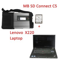 V2020.6 Xentry MB SD Connect C5 WiFi Diagnostic Tool with 4GB Lenovo X220 I5 Laptop Software Pre-installed and Activated Directly to Use