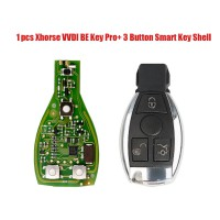 [7% Off £19][UK Ship]Xhorse VVDI BE Key Pro with Smart Key Shell 3 Button for Mercedes Benz Complete Key Package