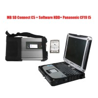 MB SD Connect C5 Star Diagnosis with V2020.09 Engineering Software HDD and Panasonic CF19 I5 Directly to Use