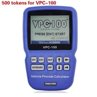 500 Tokens Add for VPC-100 Vehicle PinCode Calculator