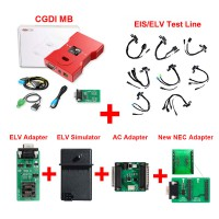 [7% Off £623][UK/EU Ship]CGDI MB Key Programmer with Full Adapters including EIS/ELV Test Line + ELV Adapter + ELV Simulator + AC Adapter+NEC Adapter