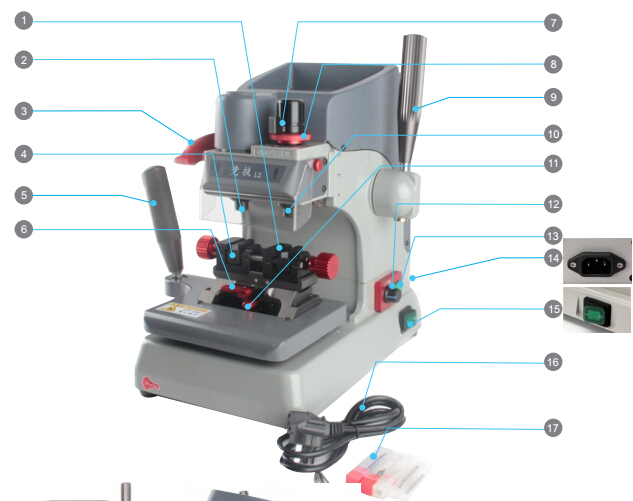 jingji-l2-vertical-key-cutting-machine-display-